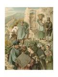German Costume, Preussen an Der Mosel Giclee Print by Albert Kretschmer