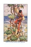 Then He Climbed Quietly Down, Jack and the Beanstalk, 1925 Impressão giclée por William Henry Margetson