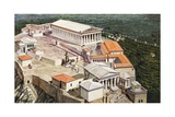 The Acropolis and Parthenon Giclée-tryk af Roger Payne