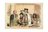 King Henry I and Serlo, Bishop of Seez Lámina giclée por Richard Doyle