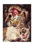 Cave Paintings Giclée-tryk af Jackson, Peter