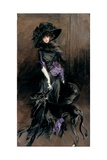 Portrait of the Marchesa Luisa Casati with a Greyhound, 1908 Giclée-tryk af Giovanni Boldini