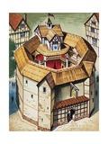 The Globe Theatre Lámina giclée por  English School
