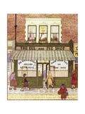 The Eel and Pie Shop, 1989 Giclée-tryk af Gillian Lawson
