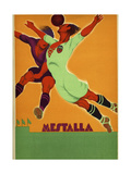 Advertisement for a Match Between Valencia and an English Team at the Mesta Giclee-trykk av  Spanish School