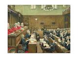 The Court of Criminal Appeal, London, 1916 Gicléetryck av Sir John Lavery