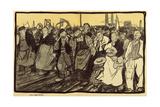 The Strikers, Cartoon from 'L'Assiette Au Beurre', 5 March, 1904 Giclée-vedos tekijänä Georges Dupuis