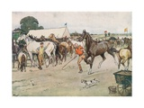 A Horse Fair... 'There Was a Great Deal of Bargaining, Running Up, and Beating Down' Giclée-Druck von Cecil Aldin