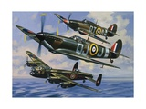 Spitfires Giclee Print by Wilf Hardy