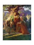 Wallace and Marion Giclée-tryk af Newell Convers Wyeth