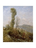A Hillside Village in Provence, c.1910-14 Giclee Print by Henry Herbert La Thangue