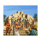 Babylonian Temple Raised to the Glory of Sargon Giclee Print by Roger Payne