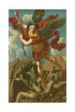 St Michael Vanquishing Satan Reproduction procédé giclée par  Raphael
