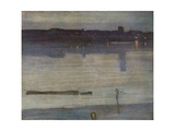Nocturne in Blue and Green Giclée-tryk af James Abbott McNeill Whistler