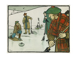 Old English Sports and Games: Curling, 1901 Giclée-Druck von Cecil Aldin