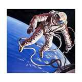 Famous Firsts: Space-Walk! Giclee Print by Wilf Hardy