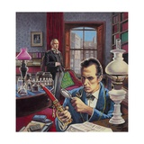 Sherlock Holmes in His Study Giclee Print by Roger Payne