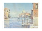 The Gran Canal, Venice, with the Santa Maria Della Salute, 1910 Gicléetryck av Gunnar Widforss
