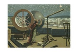Hipparchus in the Observatory in Alexandria Giclee Print by Josep or Jose Planella Coromina
