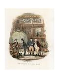 Illustration for the Pickwick Papers Reproduction procédé giclée par Hablot Knight Browne