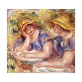 Two Women in Blue Dresses (The Two Sisters); Deux Femmes En Corsage Bleu (Les Deux Soeurs), 1919 Giclee Print by Pierre-Auguste Renoir