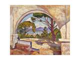 Saint Tropez, Vue de La Chapelle St, c.1920 Gicléetryck av Théo van Rysselberghe