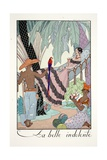 La Belle Indolente, from 'Falbalas and Fanfreluches, Almanach des Modes Présentes, Passées et… Giclée-vedos tekijänä Georges Barbier