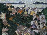 Summer Landscape; Sommerlandschaft, 1917 ジクレープリント : エゴン・シーレ