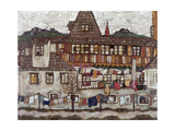 Houses with Clothes Drying, 1917 Giclée-Druck von Egon Schiele