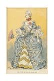 Toilette de Cour Louis XV Giclee Print by Albert Robida