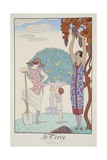 Earth, from 'Falbalas and Fanfreluches, Almanach des Modes Présentes, Passées et Futures', 1925 Giclee Print by Georges Barbier