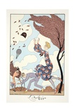 Air, from 'Falbalas and Fanfreluches, Almanach des Modes Présentes, Passées et Futures', 1926 Giclée-vedos tekijänä Georges Barbier