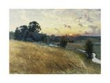 An Extensive Landscape at Sunset, 1902 Reproduction procédé giclée par Johan Ericson