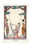 Summer, from 'Falbalas and Fanfreluches, Almanach des Modes Présentes, Passées et Futures', 1926 Giclée-vedos tekijänä Georges Barbier