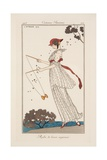 Dress in Printed Linen, Illustration from 'Journal des Dames et des Modes', 1913 Reproduction procédé giclée par Georges Barbier