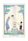 Spring, from 'Falbalas and Fanfreluches, Almanach des Modes Présentes, Passées et Futures', 1926 Giclée-vedos tekijänä Georges Barbier