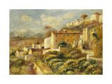 View of the Post Office, Cagnes; Vue de La Poste, Cagnes, 1907 Reproduction procédé giclée par Pierre-Auguste Renoir
