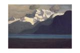 Lac Leman and Les Dents-Du-Midi, 1919 Reproduction procédé giclée par Félix Vallotton