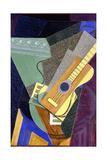 Guitar on a Table; Guitare Sur Une Table, 1916 Giclée-tryk af Juan Gris