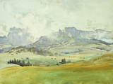 In the Dolomites, 1914 Giclee Print by John Singer Sargent