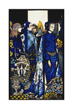 Etain, Helen, Maeve and Fand, Golden Deirdre's Tender Hand'. 'Queens', Nine Glass Panels Acided,… Gicléetryck av Harry Clarke