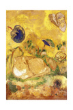 Bazon, the Artist's Cat; Bazon, Le Chat de l'Artiste, c.1905 Giclée-tryk af Odilon Redon
