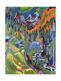 Sertig Path in Summer; Sertigweg Im Sommer, 1923 Giclée-tryk af Ernst Ludwig Kirchner