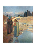 The Baptism of Christ in the Waters of the Jordan, 1917 Giclée-tryk af Frederic Montenard