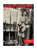The Chemical Girl, Front Cover of the 'Dupont Magazine', June 1940 Gicléedruk van  American School