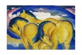 The Little Yellow Horses, 1912 Reproduction procédé giclée par Franz Marc