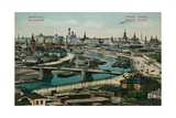 General View of Moscow. Postcard Sent in 1913 Giclée-tryk af  Russian Photographer