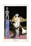 Evening, from 'Falbalas and Fanfreluches, Almanach des Modes Présentes, Passées et Futures', 1926 Reproduction procédé giclée par Georges Barbier
