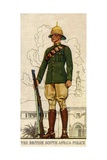 Trooper in Full Dress of the British South Africa Police, 1938 Giclée-tryk
