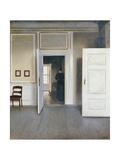 Woman in an Interior, Strandgrade 30, 1901 Giclée-tryk af Vilhelm Hammershoi